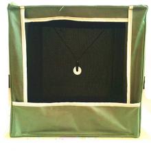 green slingshot catchbox